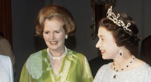 Елизавета II и Маргарет Тэтчер