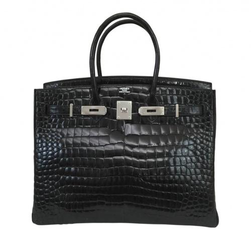 Сумка Hermes Black Crocodile Birkin Bag