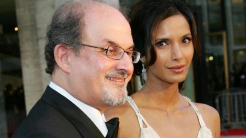 Салман Рушди с женой