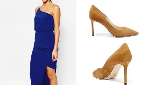 туфли под синее платье