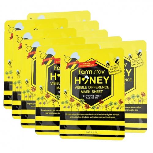 Тканевая маска с медом и прополисом