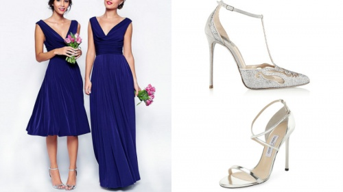 синее платье с серебром