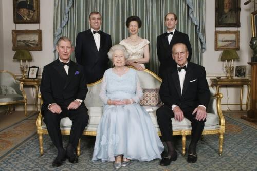 Елизавета 2, принц Филипп и их дети