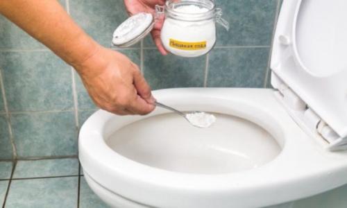 Сода и уксус для чистки унитаза