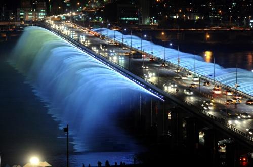фонтан радуга