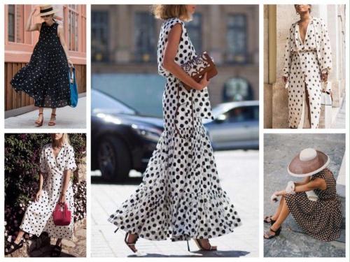 Самые модные фасоны платья в горох в 2021 году