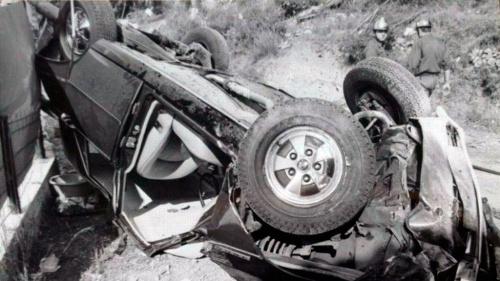 Фото автомобиля Грейс Келли после аварии