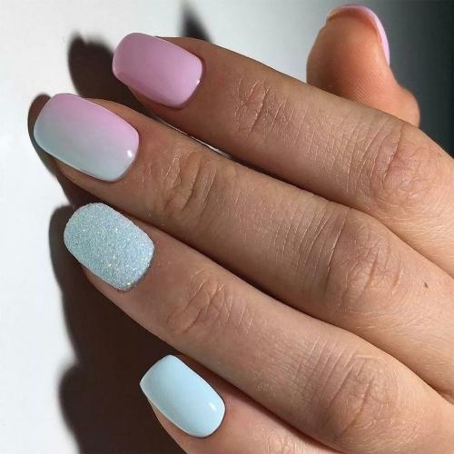 Плавный переход от розового к голубому, бархатный песок - идеальное гармоничное сочетание