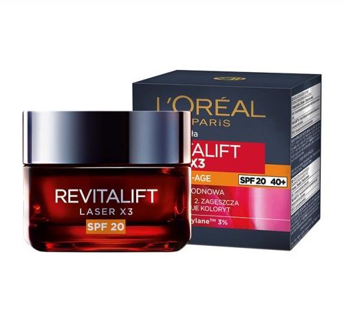 L`oreal Paris Revitalift «Лазер х3» SPF 20 - дневной антивозрастной крем для лица