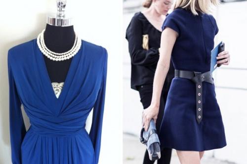 украшение под синее платье
