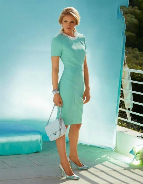 лазурное платье
