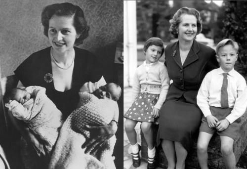 Маргарет Тэтчер с детьми