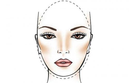 овальная форма лица эскиз
