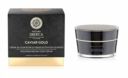 Natura Siberica Caviar Gold - омолаживающий дневной крем для лица