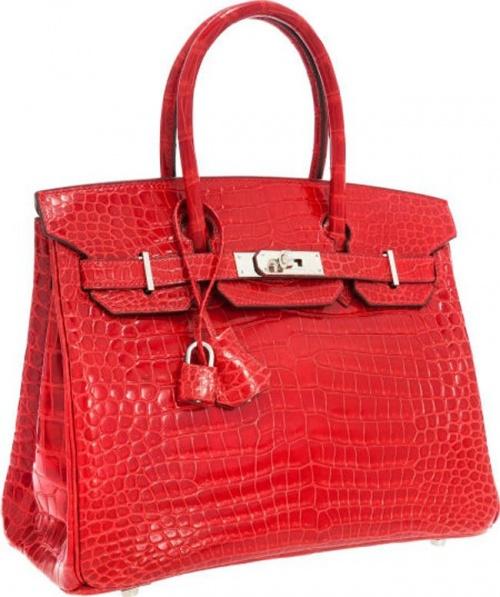 Сумка Shiny Braise Red Porosus Crocodile Birkin Bag