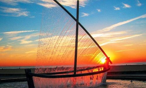 фонтан лодка
