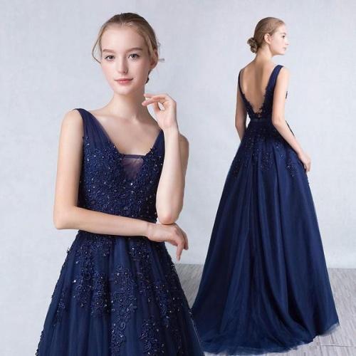 синее платье вечернее