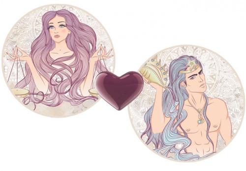 Мужчина Водолей и девушка Весы